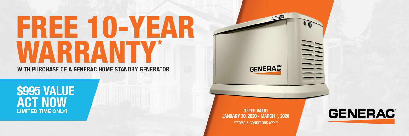 Homestandby Generator Deal | Warranty Offer | Generac Dealer | Raynham, MA